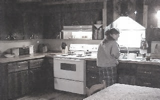 Sharon washing the same dish... over and over