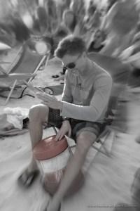 My Red Bucket Drum at Siesta Key