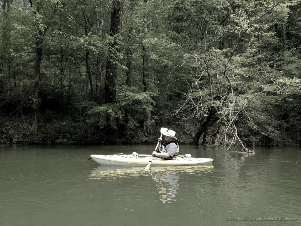 Floating down the collins River in Warren County Tennessee