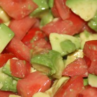 Avocado Tomato Salad A Side Dish That is Dog Safe