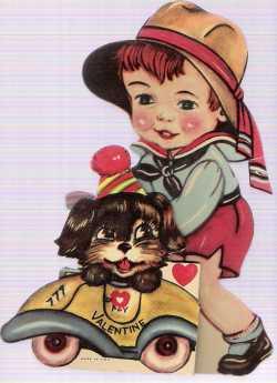 Vintage puppy valentine