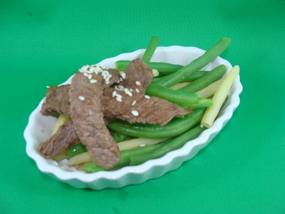 green beans and beef for dogs