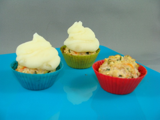 Turkey Meatloaf Muffins with Mashed Potato Icing