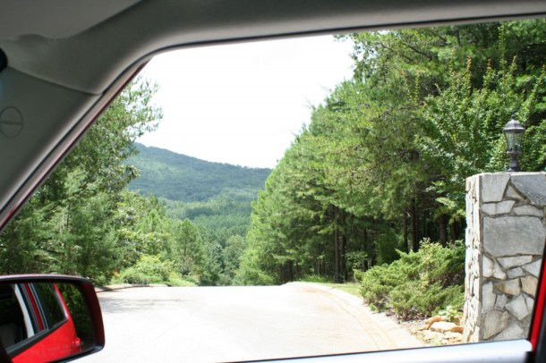 View from inside the Kia Soul