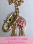 Elephant Pendant Long Necklace