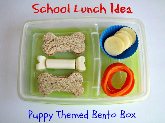 school lunch idea puppy themed bento box. Black Bedroom Furniture Sets. Home Design Ideas