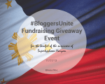 Help the Philippines Rebuild Bloggers Unite Giveaway