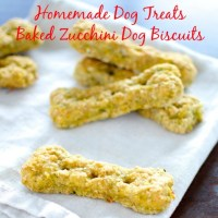 Homemade Dog Treats -  Baked Zucchini Dog Biscuits