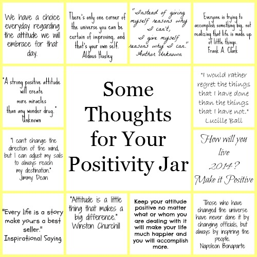 Some thoughts for your DIY Positivity Jar