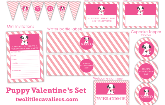 Puppy Valentine Printable