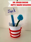 Dr. Seuss Decorations - Nifty Name Holders