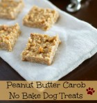 No Bake Peanut Butter Carob Dog Treats #Recipe
