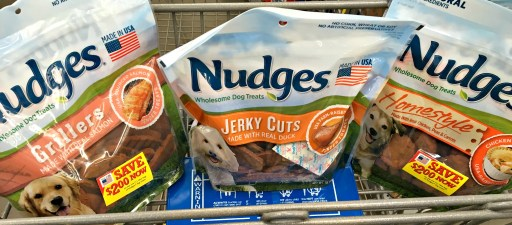Nudges Wholesome Dog Treats at Walmart #NudgeThemBack