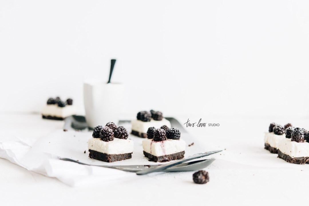 Two Loves Studio Black White Food Photography Cheesecake Slice