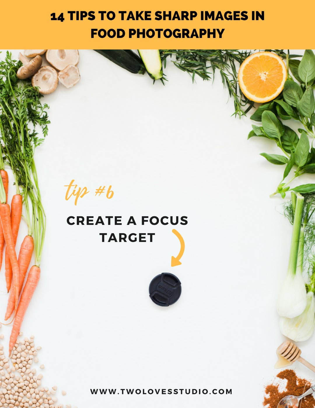 14 Tips to Troubleshooting Tack Sharp Images in Food Photography. Click To Get The FREE Checklist.