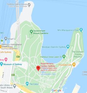 mapa ogrodów botanicznych