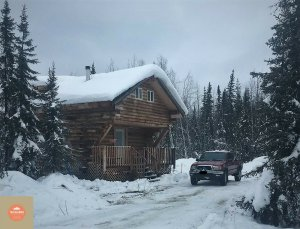 Photo of Jim's Log Cabin in Alaskan Backcountry