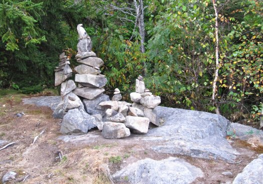 Photo of Cairns on Appalachian Trail in Maine
