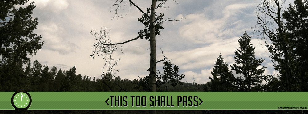 Perseverance: This Too Shall Pass