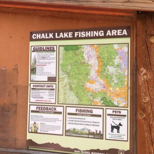 Chalk Lake Sign