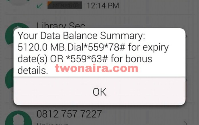 MTN WeChat 5GB for N50