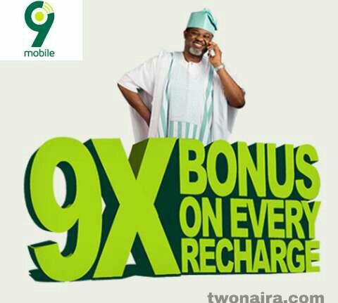 9Mobile 900% bonus