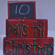 Days til Christmas blocks holiday decor
