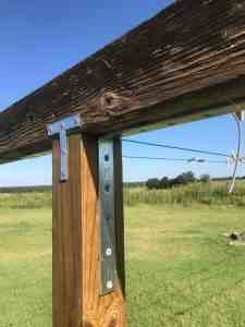 build a clothesline, two oaks farmstead