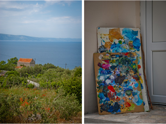 Our apartment rental in Croatia: Seaside Views and Oil Paints