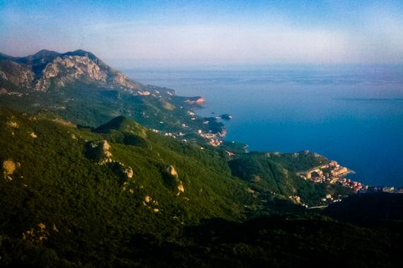 iPhone Photo of Montenegro Coastline From the Hills Above Budva