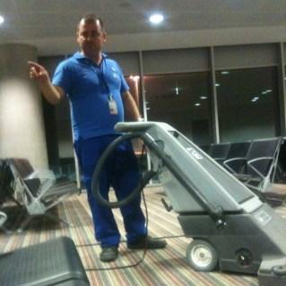 Lucas the Airport Vacuum Operator