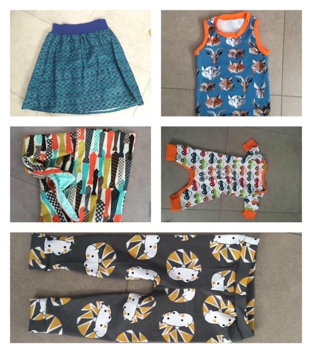 Ellen-Collage Naait Club-weekend - Deel 2: onze naaiprojecten