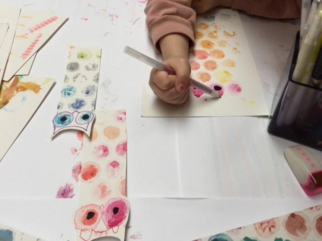 tekenen-1 Bubble plastic print studio: een bladwijzer voor De Uil