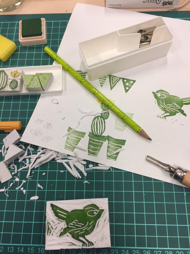 vogeltje-stempel Femma workshop: Stempels maken met .tonBouton