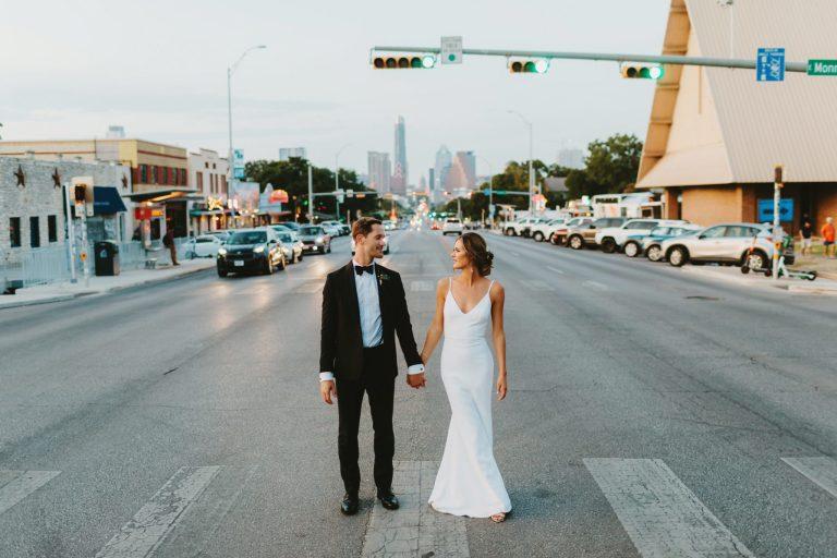 South Congress Hotel Wedding Photographer Capitol Building Road Shot
