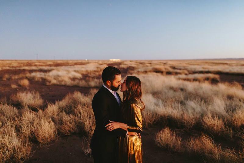 Marfa-Wedding-Photographer-Engagement-photos-prada-marfa-chinati-foundation-concrete-blocks