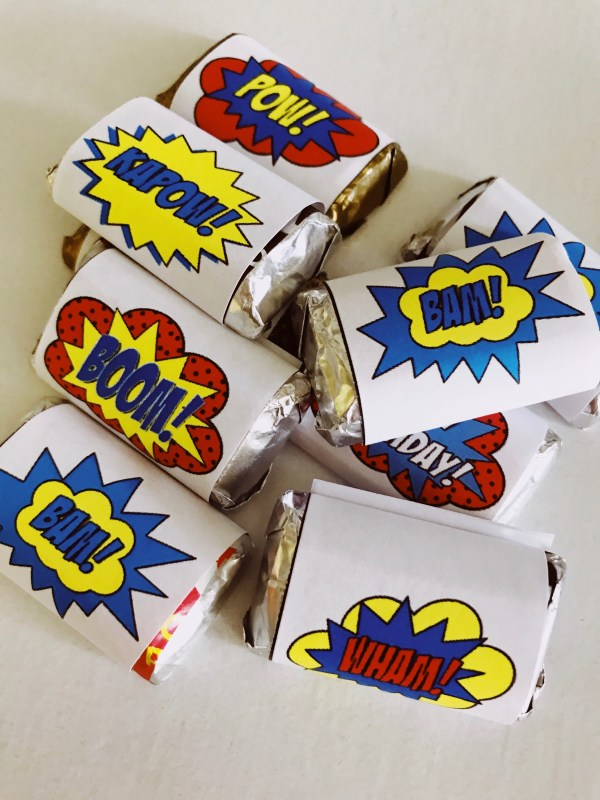 Super Hero Mini Candy Bar Wrappers