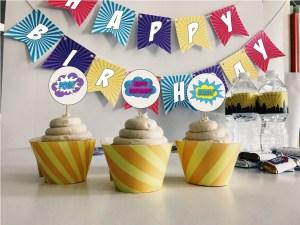 Neon Theme Cupcakes