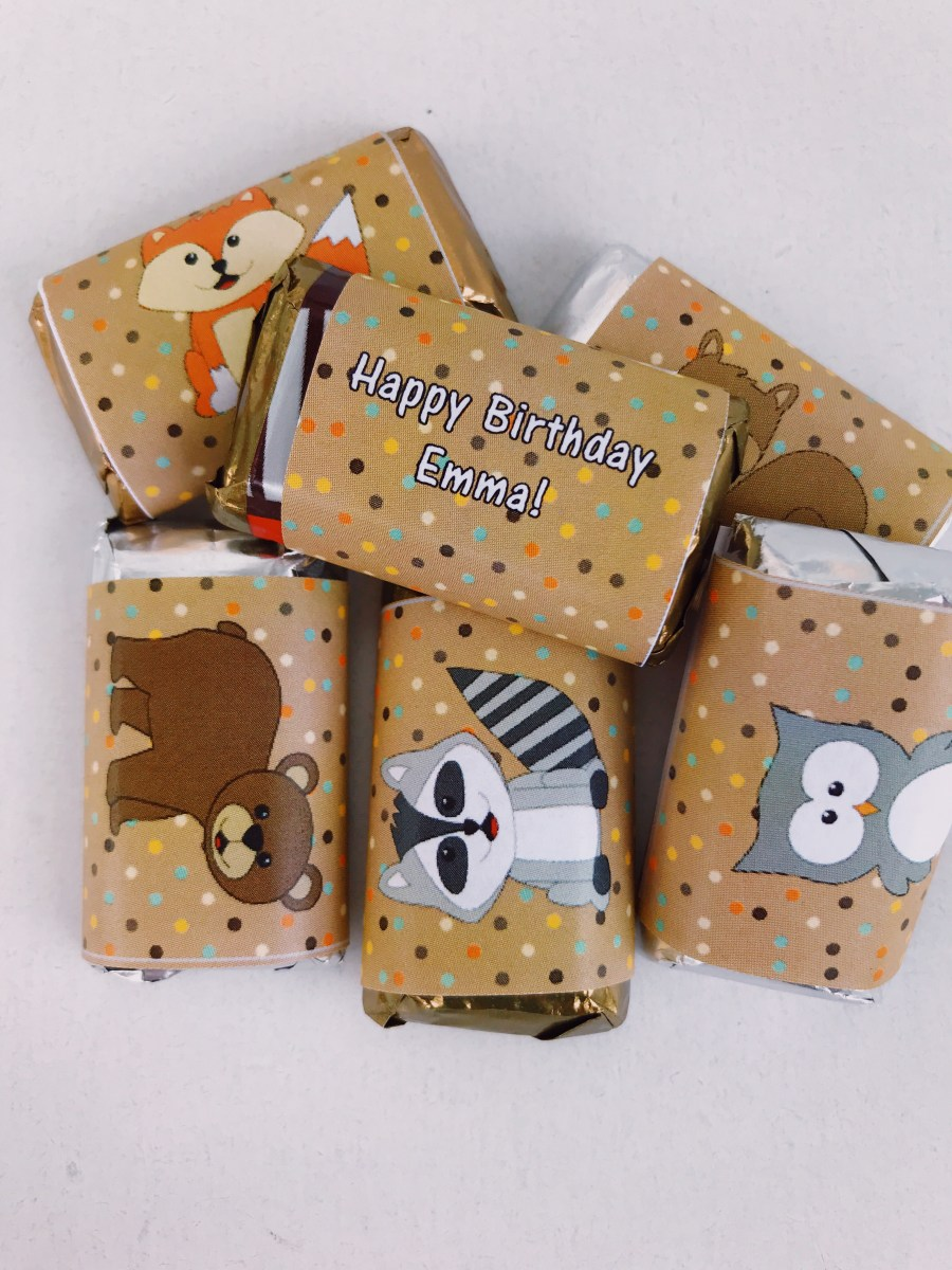 personalized mini candy wraoppers