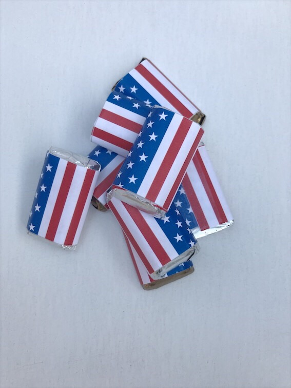 Flag Mini Candy Bar Wrapper