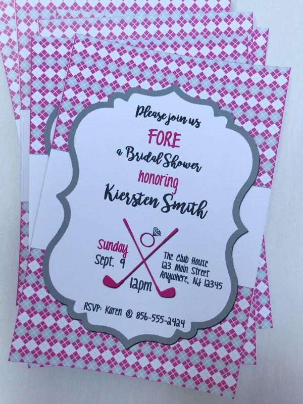 Golf Bridal Shower Invitation