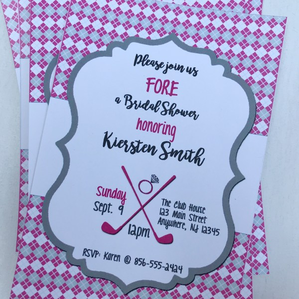 Golf Bridal Shower Invitation