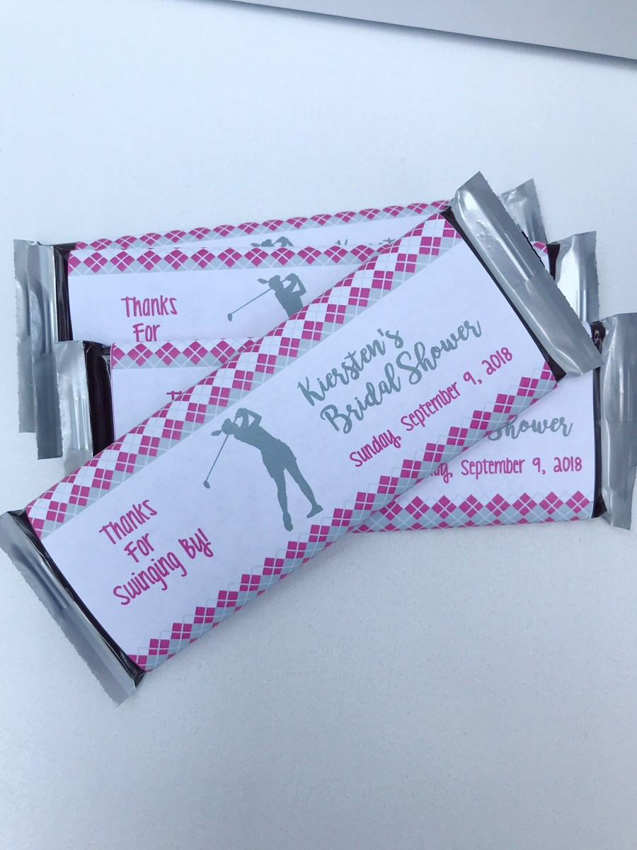Golf Bridal Shower Candy Bar Wrapper