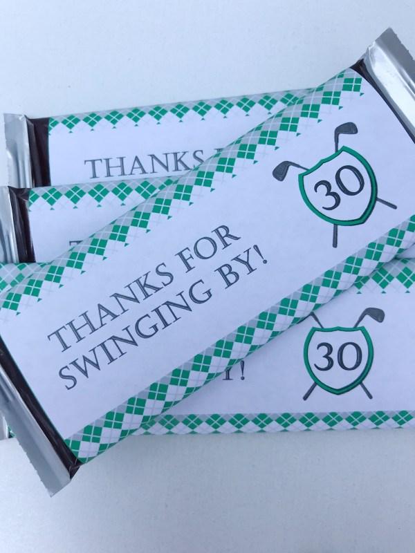 Golf Birthday Candy Bar