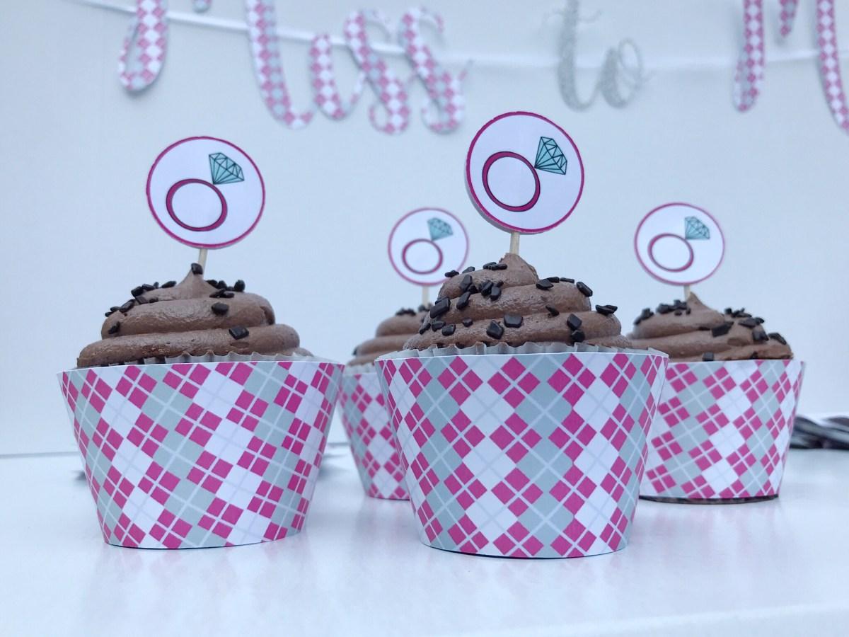 Golf Bridal Shower Cupcakes