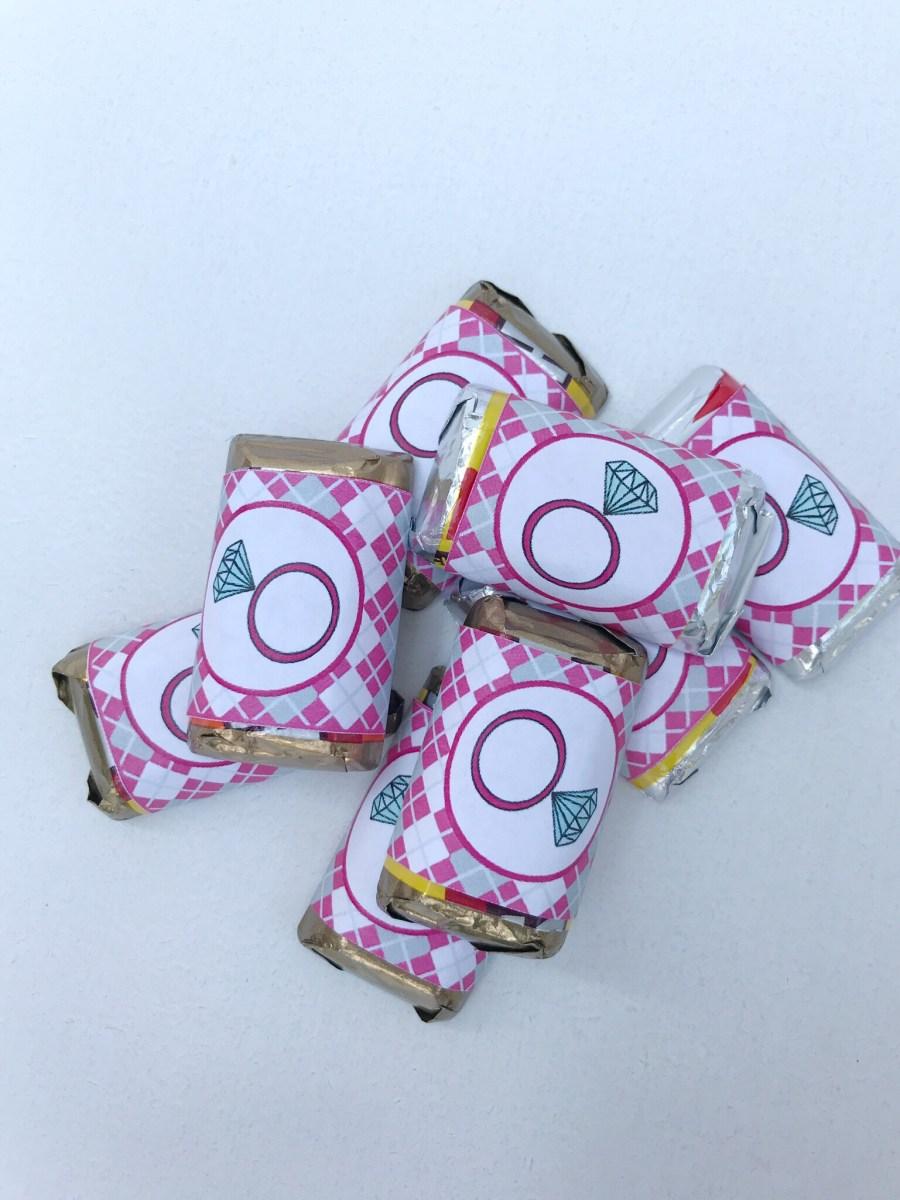 Golf Bridal Shower Mini Candy Bar Wrapper