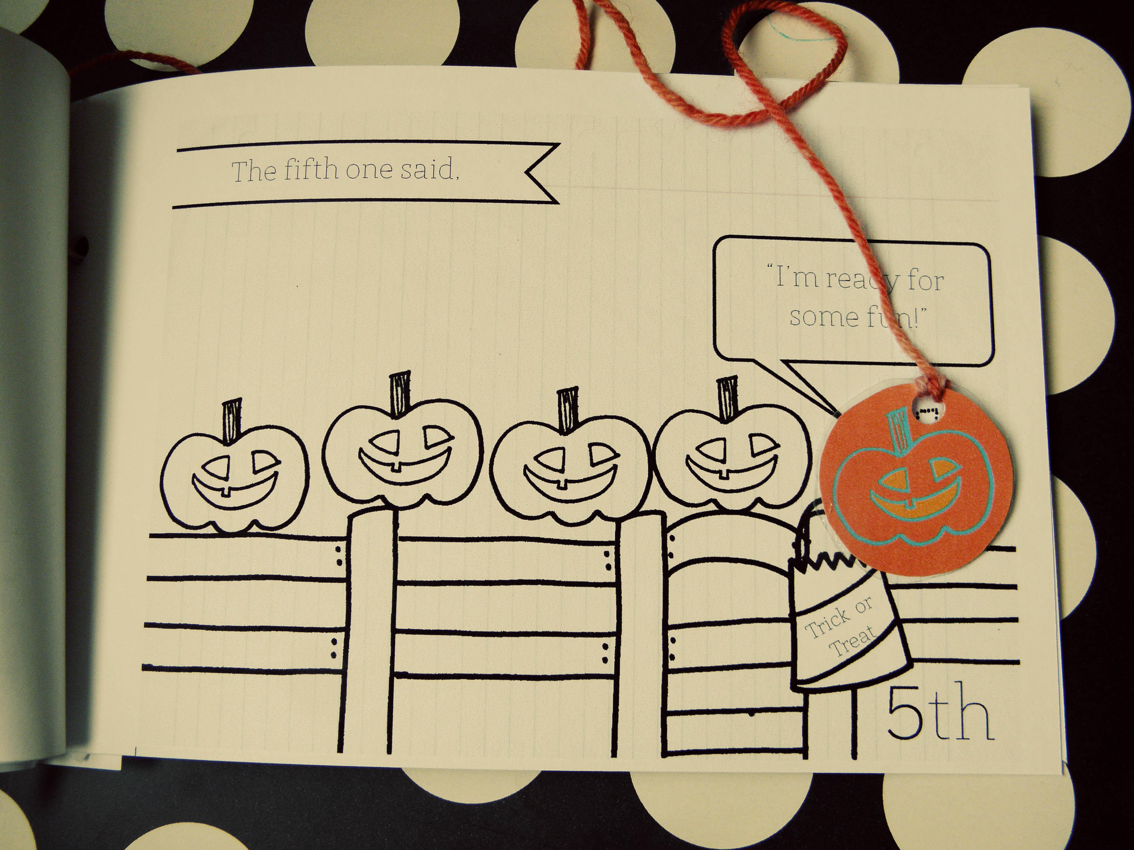 5 Little Pumpkins Sitting On A Gate An Interactive Reader