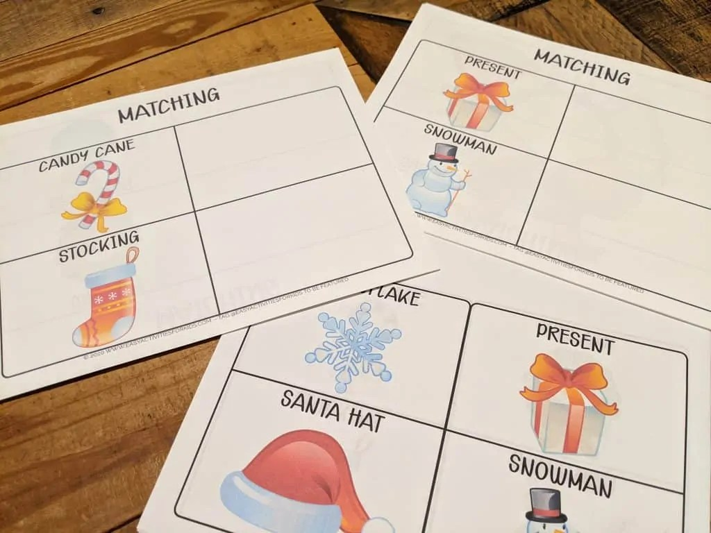 Winter Worksheets Preschool Bundle