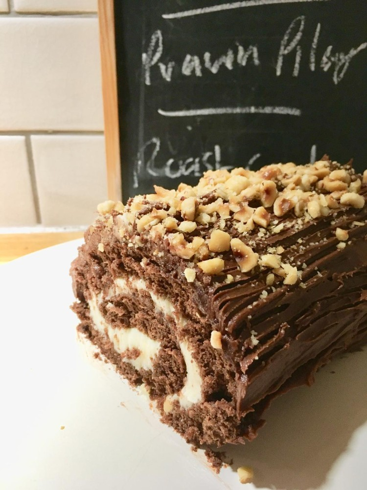 Chocolate Nut Cake Recipe- A Yule Log is Not Just for Christmas