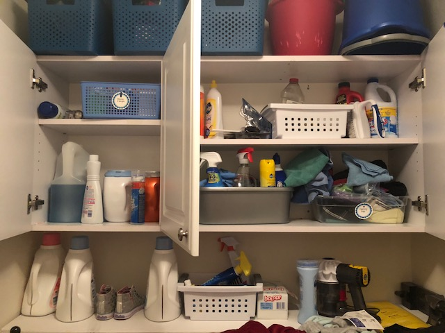 Clear the Clutter LAUNDRY ROOM | twoplusmeandyou.com
